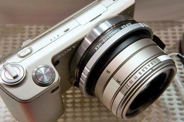 NEX-5 Gold + CONTAX G Lens