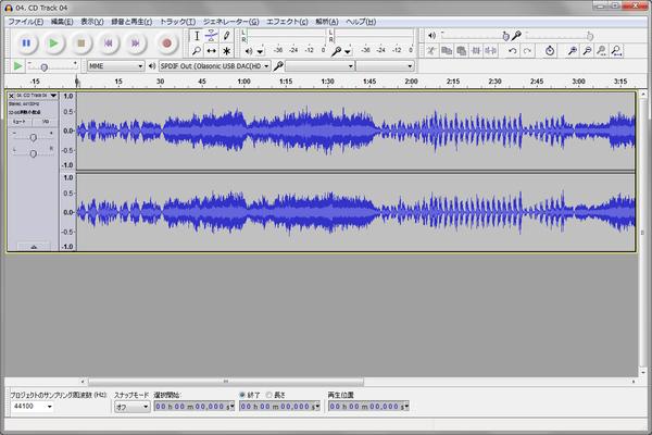 CD の波形